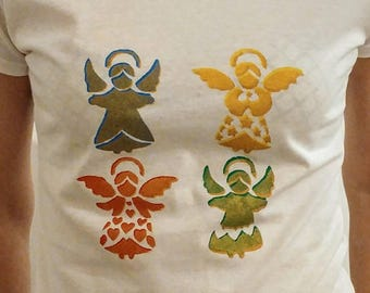 Christmas angels print t-shirt