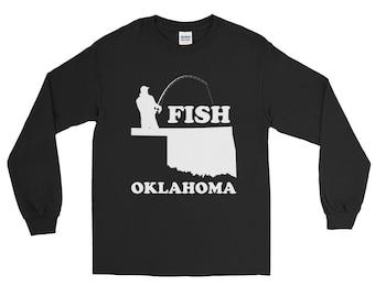 Fish Oklahoma Fishing T-shirt - Long Sleeve
