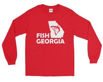 Fish Georgia Fishing Long Sleeve T-shirt   Fishing Apparel