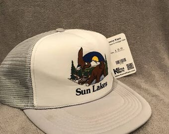 Sun Lakes Fishing Hat Arizona Resort Vintage Trucker Mesh Snapback Cap 2103