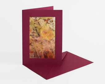Greeting card with silk/greeting cards WITRH silk: emotions