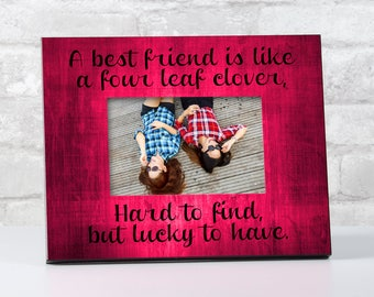 Christmas Gift for Best Friend, Best Friend Frame, Best Friend Frame With Quote, Picture Frame for Her, Bestfriend Gifts for Her