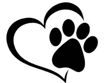 Heart dog paw