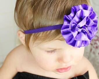 Purple Baby Bow - Purple Baby Headband -  Purple Baby Photo Prop - Baby Hairbows - Newborn Headband - Infant Headband - Purple Headband