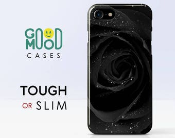 Black Rose - iPhone 7 case , iphone 8 case , iphone 6 case , iphone 7 plus case , iphone 8 plus case , iphone 6 plus case , iphone X , Rose