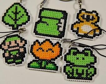 Mario Cross Stitch Item Charms