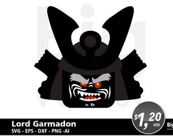 Brick Master Garmadon digital files. SVG EPS Png Ai DXF  cuttable files,lego ninjago  instant download