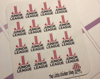 Junior league stickers. Perfect for any planner!