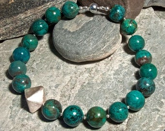 Turquoise necklace with Sterling silver elements
