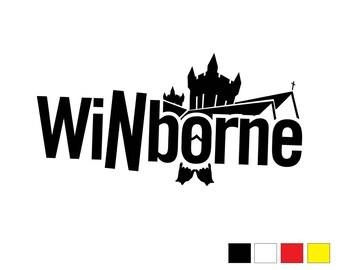 WiNborne XL Vinyl Cut Sticker