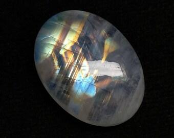 Rainbow Moonstone Oval Designer Cabochon,Size-23x16x7MM,Multi,Flash Moonstone,AAA,Loose Gemstone,Smooth Cabochons.