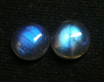 Labradorite Rouand Cabochon, Lot ,Size-9x9 MM, Blue Flashy , AAA,  Loose Gemstone, Smooth Cabochons.