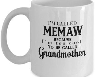Memaw, Memaw Mug, Grandma Mug, Memaw Gift, Memaw Coffee Mug, Nana Mug, Gift For Memaw, Grandmother Mug, Grandma Gift, Grandma Coffee Mug