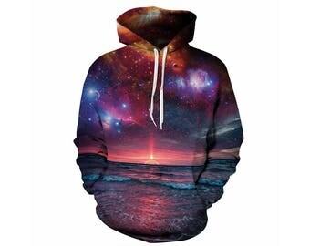 Galaxy Hoodie, Galaxy Sweatshirt, Galaxy, Galaxy Jumper, Galaxy Hoodies, Space, Space Hoodie, 3d Hoodie, 3d Hoodies, Hoodie - Style 3