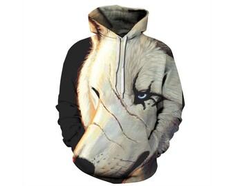 Wolf Hoodie, Wolf, Wolf Hoodies, Animal Prints, Animal Hoodie, Animal Hoodies, Wolves, Hoodie Wolf, Hoodie, 3d Hoodie, 3d Hoodies - Style 5