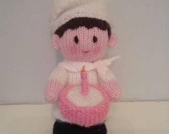 Handmade Cute Knitted Chef Soft Stuffed Toy
