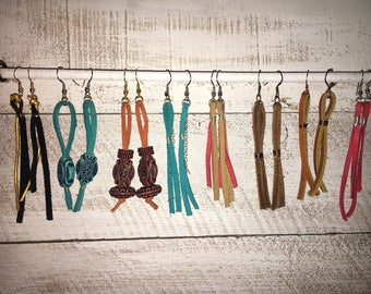 Magnolia Market Copycat Leather Thread Earrings