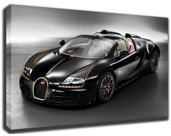 BUGATTI VEYRON Canvas/Poster Wall Art Pin Up HD Gallery Wrap Room Decor  Home Decor