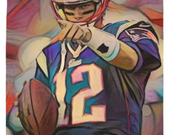 Tom Brady - Tom Brady Tapestry,Tom Brady Art,Tom Brady Print,Tom Brady Merch,Tom Brady Gift,Modern Abs