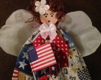 Adorable Fourth of July Angel Pin/Ornament