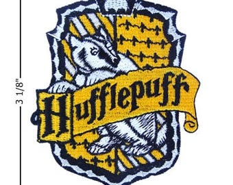 Harry Potter Hufflepuff House  Embroidered Iron On Patch