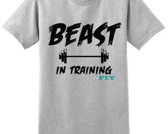 Workout Tank Top - Fitness Tank Top - Yoga Shirt -Gym Shirt - Workout Shirt - Muscle Tank Top - Beast in Training Shirt