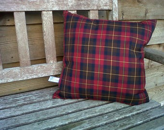 Burgundy and Brown Tartan Plaid Check Cushion Cover Various Sizes Available