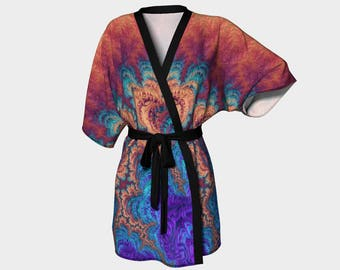 The Range of Strange - Kimono Robe, Robe, Bath Robe, Lounge Wear, Spa Robe, Coverup, Swim Coverup, Gift for Him/Her, Bridesmaid Robe