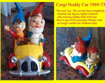 Noddy Car Diecast Corgi Toy Car Vintage Retro Collectable 1969-1973 Made in Great Britain. Yesteryear. Childhood toys Memorabilia.