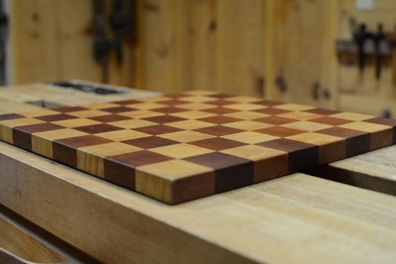 Wooden Chess Board Handmade / Wood Chess Board / Chessboard Tiger Maple + Cherry / Wood Game Board / Checkers Board / Wooden Checkers Board