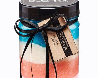 """Scrub-chewing """"Love is"""", natural scrub, gum """"Love is"""", ecocosmetics"""