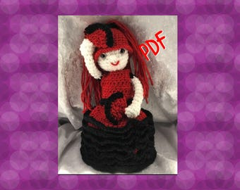 Tuto/pattern PDF Danseuse flamenco crochet