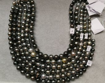 Circle-Drop/Baroque High Luster Tahitian Pearl Necklace Strands- LOT15
