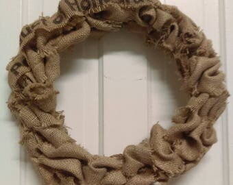 Coffee Sack Jute Wreath