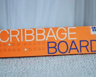1970's Whitman Cribbage Board with 6 Metal Pegs