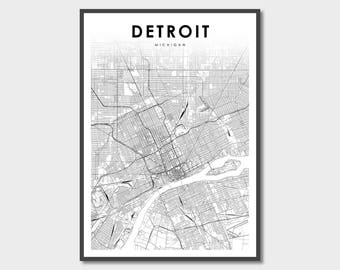 Detroit On Us Map detroit map detroit detroit michigan detroit