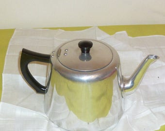Vintage Aluminium Tea Pot (Swan signed)