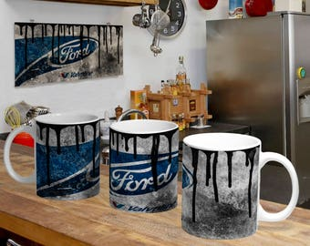 Templates for Mug Oils Effect Ford Racing