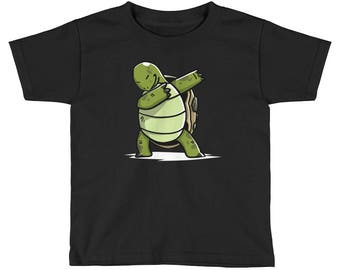 Funny Dabbing Tortoise Kids Short Sleeve T-Shirt