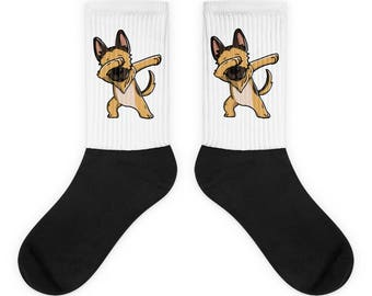 Funny Dabbing German Shepherd Socks, Cute German Shepherd Gift, Dog Dab Dance Print