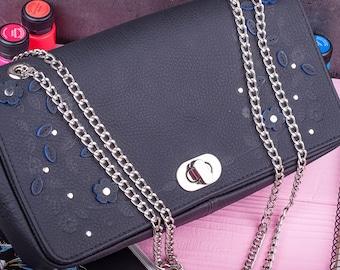 HUGESALE Crossbody bag Leather handbag Leather clutch Convertible bag Leather crossbody foldover Bridesmaid gift Gift for her Shoulder bag