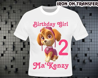 Paw Patrol Iron On Transfer , Paw Patrol Birthday Shirt DIY , Paw Patrol Shirt DIY , Iron On Transfer , Digital File