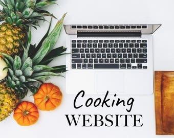 Cooking Website - Cooking website with custom domain - Custom design website