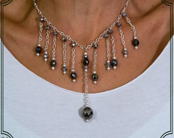 Black necklace with Crystals