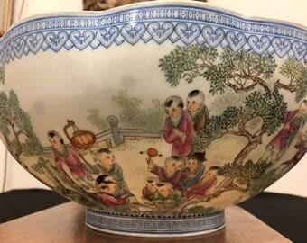 Chinese Eggshell Porcelain Bowl