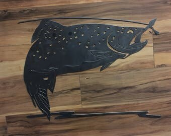 Trout Jumping Wall Art