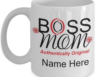 11oz Coffee Mug, 11oz Coated Mugs, Mom Life, Wife Mom Boss, Gift For Mom, Boss Lady, Best Mom, Mom Cup,  Boss Mom Mug Authentically Original