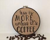 """Coffee 6"""" Black Hoop"""
