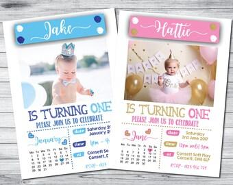1st birthday invitation etsy uk 10 personalised 1st birthday invitationsinvites boy girl stopboris Choice Image