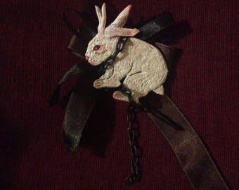 Alice in wonderland brooch